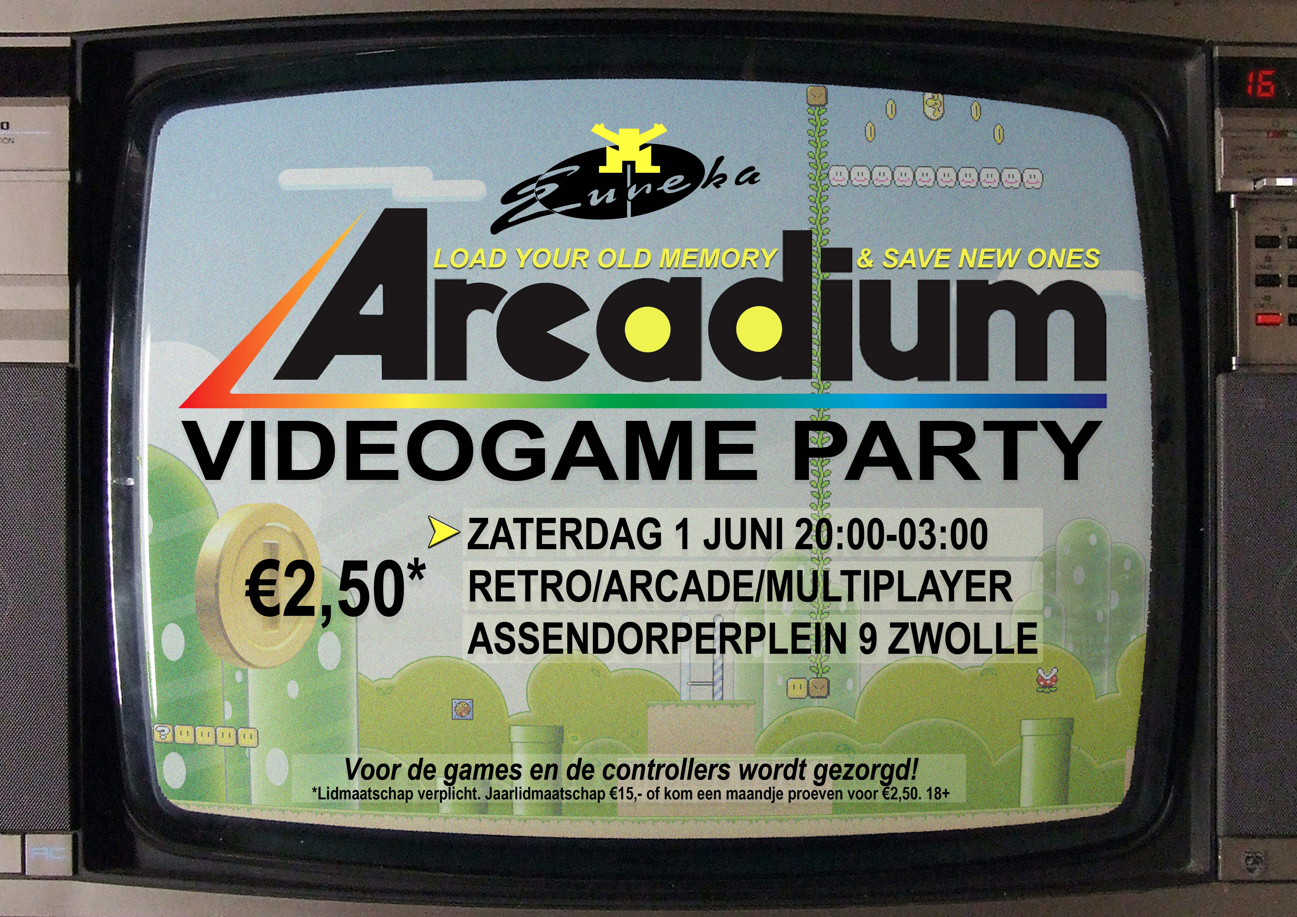 Gameparty Arcadium in Zwolle