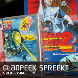Gladpeek spreekt stickervandalisme