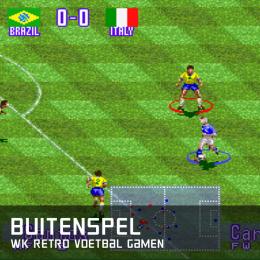 Buitenspel WK retro voetbal gamen