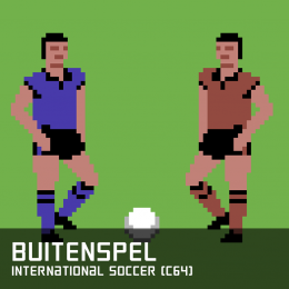 Buitenspel international soccer c64