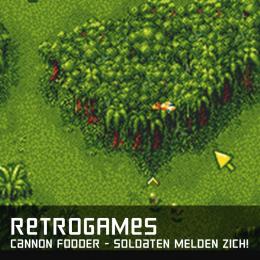 Retrogames cannon fodder soldaten melden zich