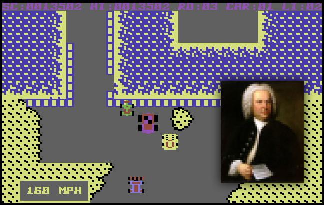 Burnin Rubber met muziek van J.S. Bach