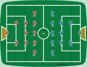 De allereerste voetbal video game. Dit is de overlay van de Odyssey de je op het T.V.-scherm plakt.