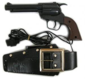 De Japanse revolver werd zelfs met een riem en holster geleverd.