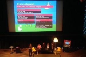 Het discussiepanel tijdens de Retro Games Experience: video games als cultureel erfgoed?
