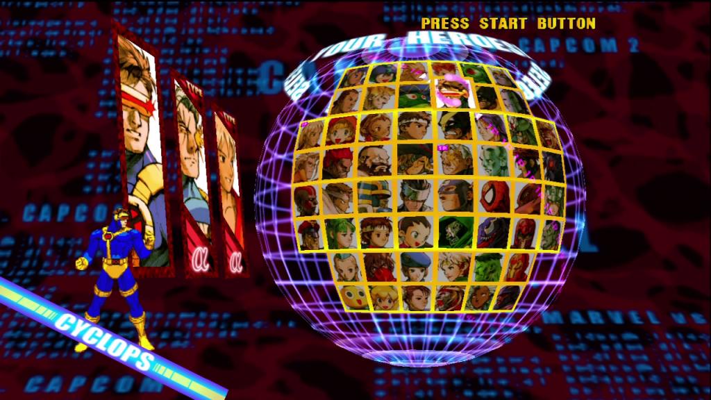 Een goed gevuld scherm. Jammer dat je het merendeel van deze personages eerst moest unlocken.