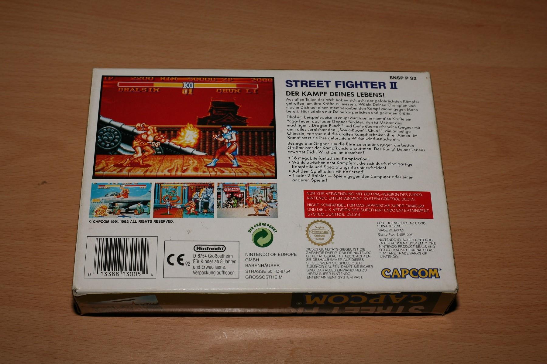 Oud gedaan is jong geleerd. Deze Street Fighter II zal een paar tientjes hebben gekost toen ik 'm in Duitsland uit de budgetbak viste.