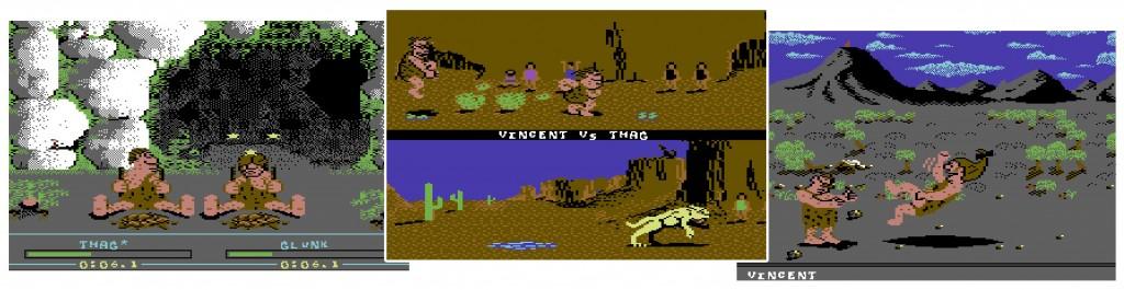 Caveman Ugh-Lympics: Firemaking, Saber race, Mate toss