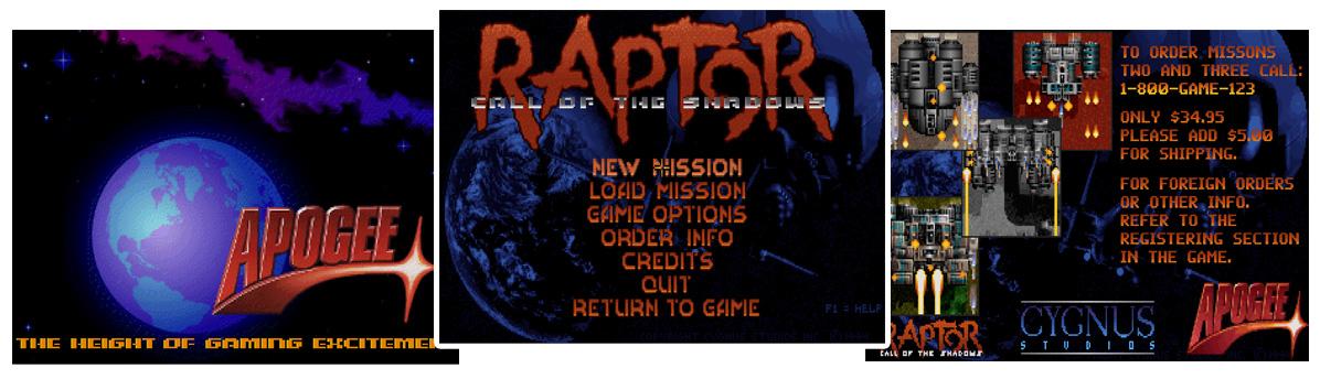 Raptor: Call of the Shadows, een van de meest succesvolle shareware games van 1994.