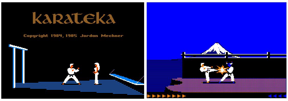 Karateka: de prinses die je moet redden en je eerste vijand.